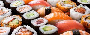 Sushi rolls, Sashimi